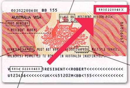 find Visa Label Number