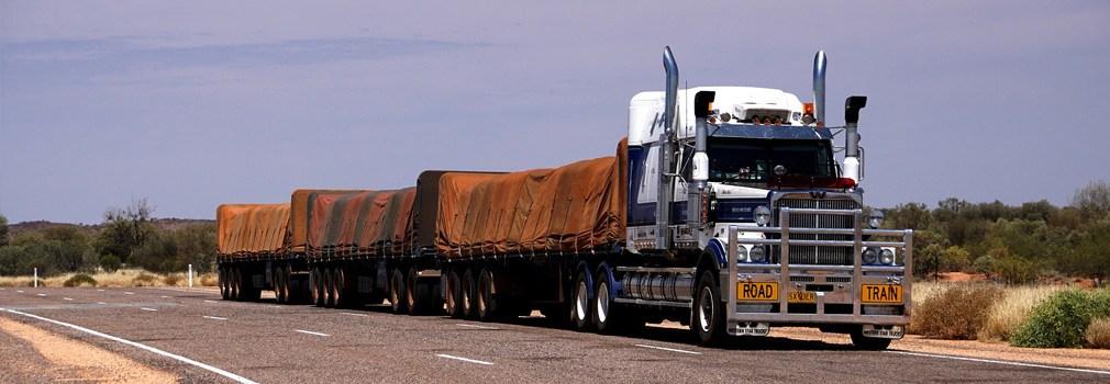 The road train, a phenomenon almost exclusively seen in Australia