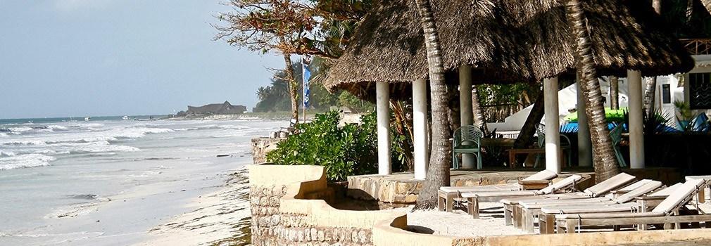 A resort at Diani Beach in Kenya
